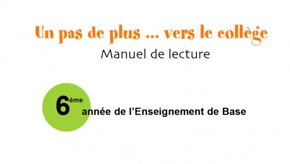 Un Pas De Plus Vers Le College Manuel De Lecture